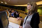 BRUSSELS - BELGIUM - 15 November 2012 -- European Training Foundation (ETF) conference on - Towards excellence in entrepreneurship and enterprise skills. -- Good Practice Marathon II - France: Claire Saddy, Tipi Formation. -- PHOTO: Juha ROININEN /  EUP-IMAGES.