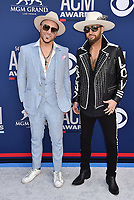 LAS VEGAS, CA - APRIL 07: Chris Lucas (L) and Preston Brust of LOCASH attend the 54th Academy Of Country Music Awards at MGM Grand Hotel &amp; Casino on April 07, 2019 in Las Vegas, Nevada.<br /> CAP/ROT/TM<br /> &copy;TM/ROT/Capital Pictures