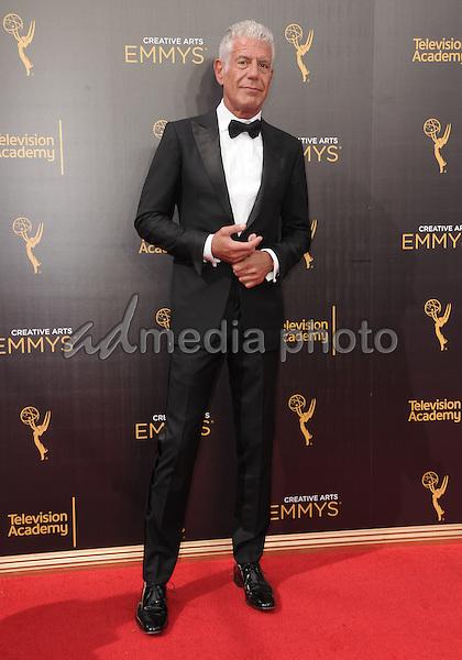 11 September 2016 - Los Angeles, California. Anthony Bourdain. 2016 Creative Arts Emmy Awards - Day 2 held at Microsoft Theater. Photo Credit: Birdie Thompson/AdMedia