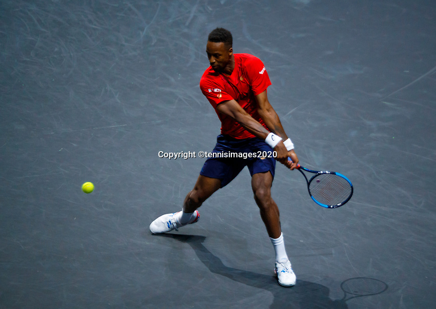 Rotterdam, The Netherlands, 12 Februari 2020, ABNAMRO World Tennis Tournament, Ahoy. Gael Monfils (FRA), Joao Sousa (POR).<br /> Photo: www.tennisimages.com