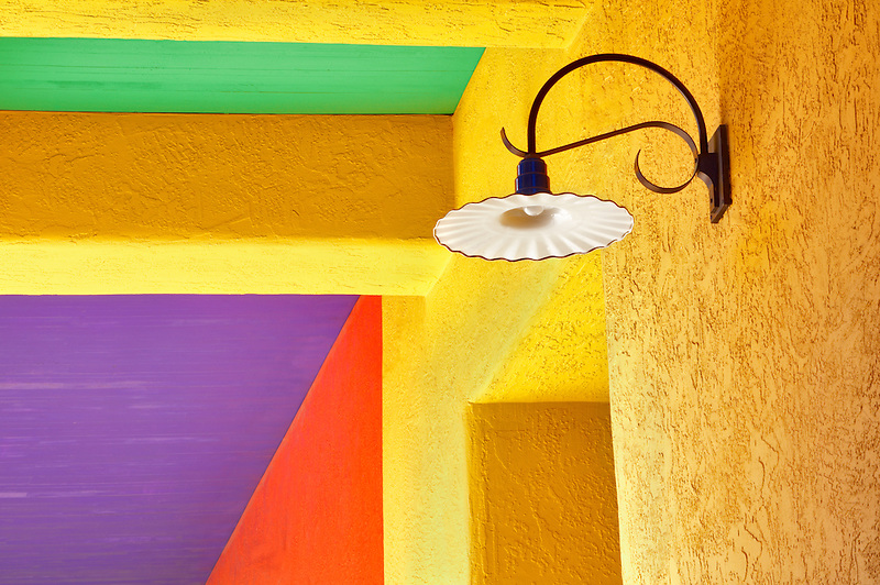 Colorful lamplight in La Placita Village. Tucson. Arizona