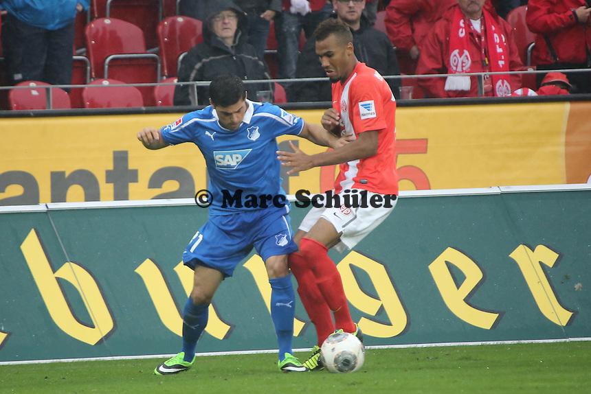 Kevin Volland (Hoffenheim) gegen Eric-Maxim Choupo Moting (Mainz) - 1. FSV Mainz 05 vs. TSG 1899 Hoffenheim, Coface Arena, 8. Spieltag