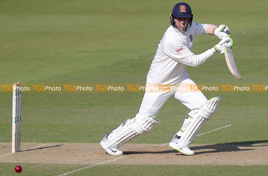 Peter Siddle of Essex cuts the ball whilst batting during Surrey CCC vs Essex CCC, Specsavers County Championship Division 1 Cricket at the Kia Oval on 13th April 2019