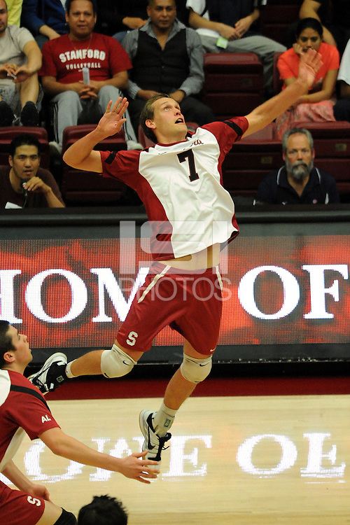 STANFORD, CA - APRIL 9: Spencer McLachlin of the Stanford Cardinal during Stanford's 3-2 win over the Pepperdine Waves on April 9, 2010 at Maples Pavilion in Stanford, California.