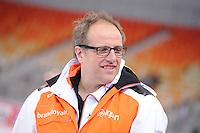 SPEEDSKATING: SOCHI: Adler Arena, 20-03-2013, Training, Jac Orie (trainer/coach Team BrandLoyalty/Activia), © Martin de Jong