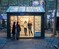 Visitors to Bryant Park in New York shop at the Bryant Park Holiday Market, looking for Christmas gifts, onSaturday, November 21, 2015. (© Richard B. Levine)