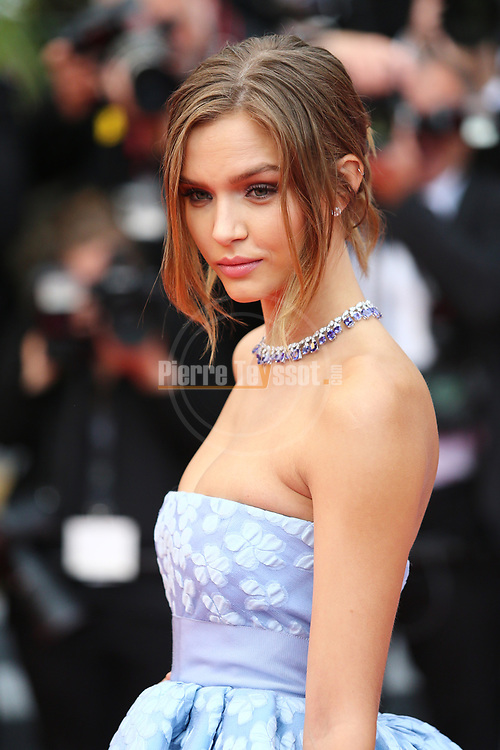 Cannes Film Festival 2018 - 71st edition - Day 3 - May 10 in Cannes, on May 10, 2018; Screening of PLAIRE, AIMER et COURIR VITE; Josephine Skriver © Pierre Teyssot / Maxppp