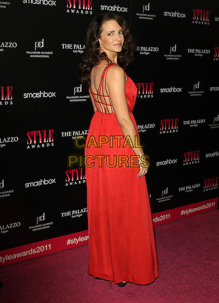 Kristin Davis.2011 Hollywood Style Awards Sponsored By Smashbox, The Palazzo Las Vegas And Palladium Jewelry.Held At Smashbox Studios, West Hollywood, California, USA..November 13th, 2011.full length red dress looking over shoulder .CAP/ADM/KB.©Kevan Brooks/AdMedia/Capital Pictures.
