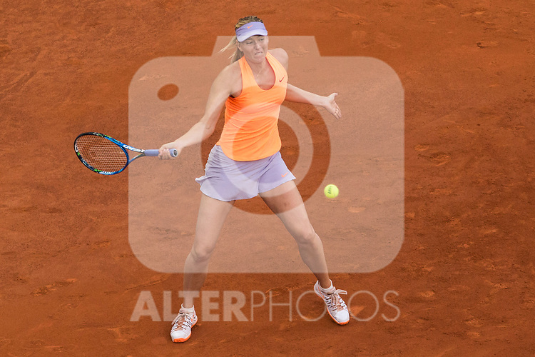 Maria Sharapova during  Mutua Madrid Open Tennis 2017 at Caja Magica in Madrid, May 08, 2017. Spain.