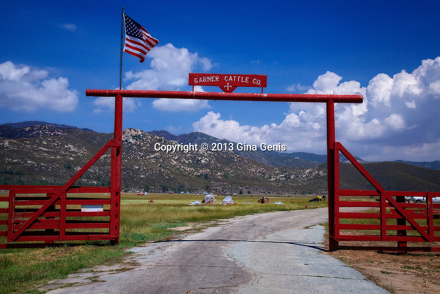 The entrance to the Garner Rance in Mountain Center. The Garners graciously allowed firefighters to use their land for staging.
