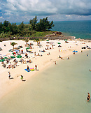 BERMUDA, Snorkel Park, elevated view of people on beach