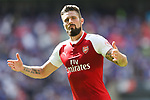 Olivier Giroud of Arsenal celebrates scoring the winning penalty during the The FA Community Shield match at Wembley Stadium, London. Picture date 6th August 2017. Picture credit should read: Charlie Forgham-Bailey/Sportimage