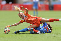 Houston, TX - The Houston Dash defeated the Chicago Red Stars 2-0 on Saturday April 15, 2017: Rachel Daly, Danielle Colaprico during a regular season National Women's Soccer League (NWSL) match at BBVA Compass Stadium.