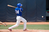 23 August 2007: Left Fielder #24 Gaspard Fessy at bat during the France 8-4 victory over Czech Republic in the Good Luck Beijing International baseball tournament (olympic test event) at the Wukesong Baseball Field in Beijing, China.