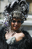 Participant at London Pride 2008, the gay / lesbian / gender parade in London.