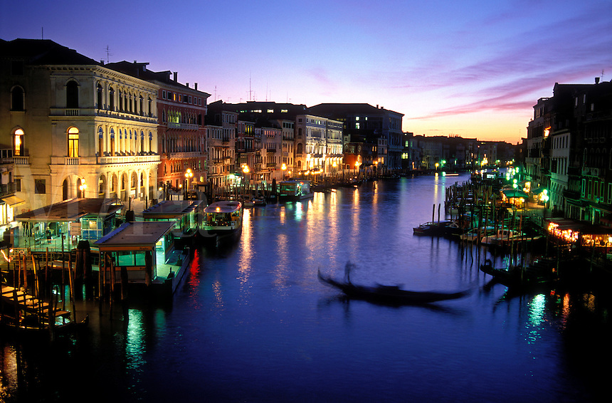 Italy Venice, The Grand Canal at night