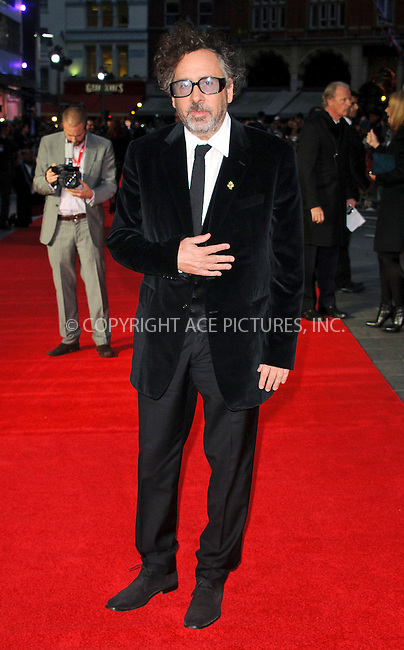 WWW.ACEPIXS.COM....US Sales Only....October 10 2012, London....Tim Burton at the premiere of Frankenweenie 56th BFI London Film Festival on October 10 2012 in London ....By Line: Famous/ACE Pictures......ACE Pictures, Inc...tel: 646 769 0430..Email: info@acepixs.com..www.acepixs.com