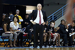 13 November 2015: Gardner-Webb head coach Rick Reeves. The University of North Carolina Tar Heels hosted the Gardner-Webb University Runnin' Bulldogs at Carmichael Arena in Chapel Hill, North Carolina in a 2015-16 NCAA Division I Women's Basketball game. Gardner-Webb won the game 66-65.