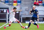 nph00351: Fussball, 1. Bundesliga, Saison 19/20, 26. Spieltag, Fortuna Düsseldorf - FC Paderborn 07, 16.05.2020:<br /> Matthias Zimmermann (F95), Dennis Jastrzembski (SCP)<br />  <br /> <br /> Nur für journalistische Zwecke! Only for editorial use!<br /> <br /> Gemäß den Vorgaben der DFL Deutsche Fußball Liga ist es untersagt, in dem Stadion und/oder vom Spiel angefertigte Fotoaufnahmen in Form von Sequenzbildern und/oder videoähnlichen Fotostrecken zu verwerten bzw. verwerten zu lassen. DFL regulations prohibit any use of photographs as image sequences and/or quasi-video. <br /> <br /> Foto: Moritz Müller/Pool / via Meuter/nordphoto