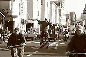 Mar 4, 2006; Tokyo, JPN; Tsukiji.A traffic officer directs traffic at the Tsukiji Market.  ..There are literally hundreds of vehicles, bikes, scooters, motorized carts and pedestrians going in and out of the Tsukiji Market every hour in the early morning...Photo credit: Darrell Miho