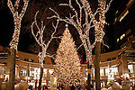 Christmas lights at Faneuil Hall Marketplace, Freedom Trail, Boston, MA