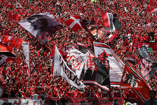 Urawa Reds fans,<br /> MAY 4, 2017 - Football / Soccer : 2017 J1 League match between Urawa Red Diamonds 0-1 Kashima Antlers at Saitama Stadium 2002 in Saitama, Japan. (Photo by Jun Tsukida/AFLO SPORT)