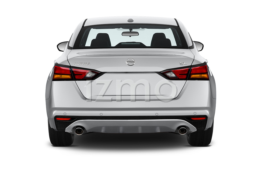 Straight rear view of a 2020 Nissan Altima SL 4 Door Sedan stock images