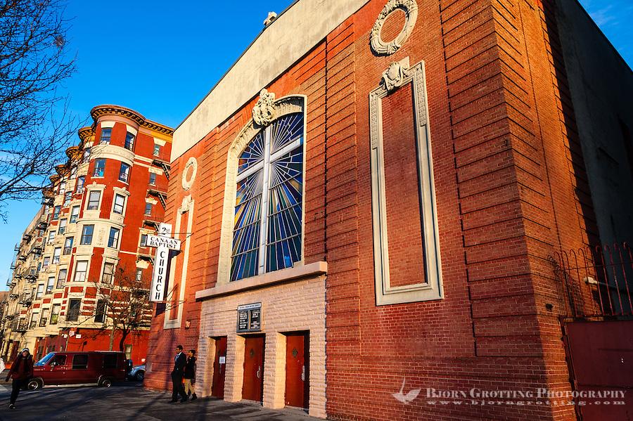 US, New York City, Harlem. Second Canaan Baptist Church, Harlem
