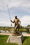 Bronze statue of Tom McCall in Salem's Riverfront Park, Oregon