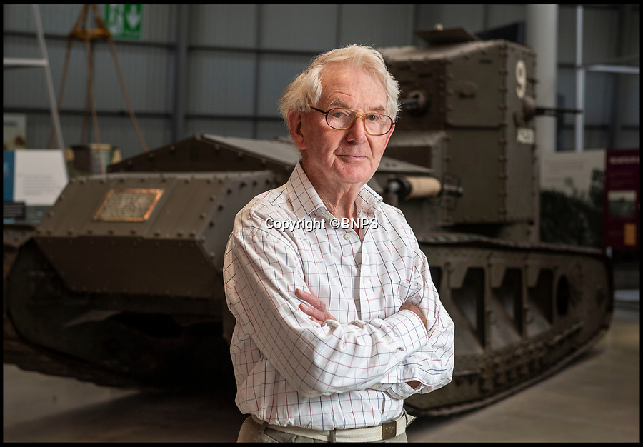 BNPS.co.uk (01202 558833)<br /> Pic: PhilYeomans/BNPS<br /> <br /> Jolyon Arnold(83) in front of a Whippet tank identical to the one his uncle fought in 100 years ago.<br /> <br /> Moving and miraculous survivor from 100 years ago - fragile timepiece reveals a remarkable story of courage, death and unlikely friendship from the Western Front.<br /> <br /> An unlikely friendship between a British World War One tank commander and the German foe who saved his life has come to light 100 years after they first met on the battlefield.<br /> <br /> Lieutenant Clement Arnold, of the Tank Corps, had been in charge of a Whippet tank which ploughed through the German defences and wreaked havoc on their trenches at the Battle of Amiens on the 8/8/1918, before recieving a direct hit and catching fire, forcing the three man crew to bail out.<br /> <br /> The enraged German soldiers bayoneted to death the tank driver, Private W J Carnie, but before Lt Arnold suffered the same fate, German officer Ritter Ernst von Maravic stepped in and ordered that he and the tank's gunner were taken prisoner instead.<br /> <br /> As a gesture of gratitude, Lt Arnold gave von Maravic the prized  wristwatch given to him by his father, his most valuable possession.<br /> <br /> Amazingly the two foes then made contact and became friends in the 1930's when von Maravic returned the watch to Clement Arnold and even holidayed in Llandudno with the Arnold family. <br /> <br /> Yesterday Lt Arnold's nephew Jolyon(83) visited the Tank Museum museum in Dorset to retell the astonishing story.