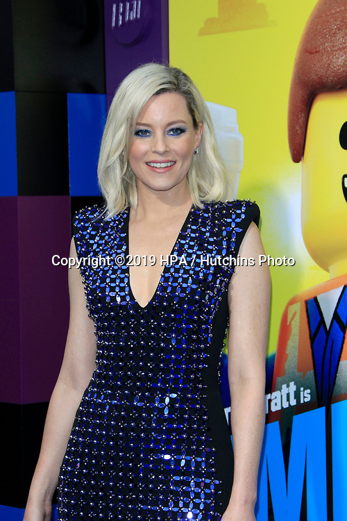 "LOS ANGELES - FEB 2:  Elizabeth Banks at ""The Lego Movie 2: The Second Part"" Premiere at the Village Theater on February 2, 2019 in Westwood, CA"