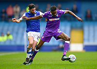 Bolton Wanderers' Sammy Ameobi shields the ball from Sheffield Wednesday's George Boyd<br /> <br /> Photographer Chris Vaughan/CameraSport<br /> <br /> The EFL Sky Bet League Two - Mansfield Town v Lincoln City - Tuesday 6th March 2018 - Field Mill - Mansfield<br /> <br /> World Copyright &copy; 2018 CameraSport. All rights reserved. 43 Linden Ave. Countesthorpe. Leicester. England. LE8 5PG - Tel: +44 (0) 116 277 4147 - admin@camerasport.com - www.camerasport.com