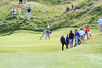 Pat Murray (Limerick) on the 13th green after getting an Albatross - Hole in 1 during Round 2 of The South of Ireland in Lahinch Golf Club on Sunday 27th July 2014.<br /> Picture:  Thos Caffrey / www.golffile.ie