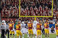 Santa Clara, Ca. - December 1, 2017: The Stanford Cardinal vs the USC Trojans in the PAC-12 Championship Game in Levi's Stadium. Final score Stanford Cardinal 28, USC Trojans 31.