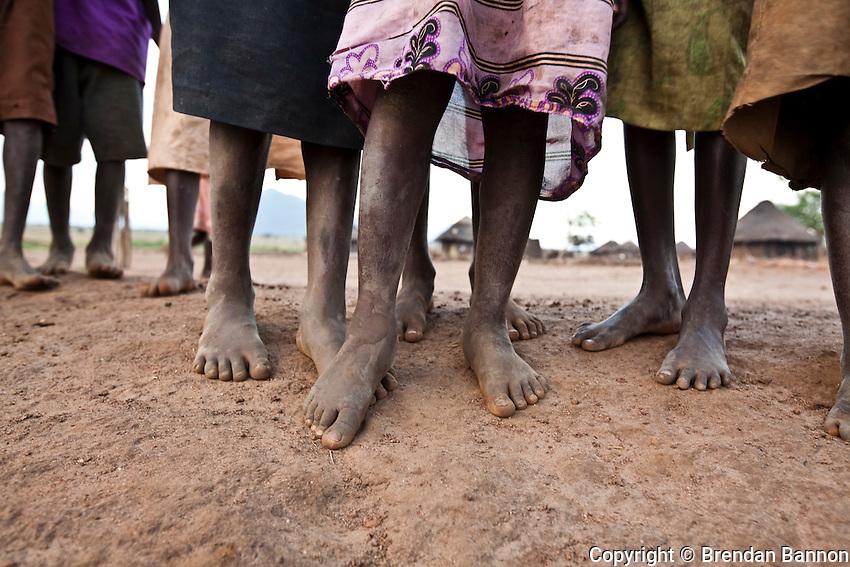 Children in Madi Opei, Uganda.