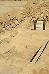 Dead Sea valley, a Mikveh ritual bath un Qumran