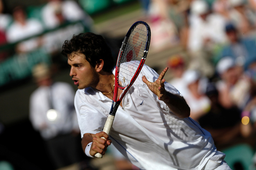 Photo: Simon de Trey-White..Wimbledon Championships. 04/07/2006..Mario Ancic of Croatia.