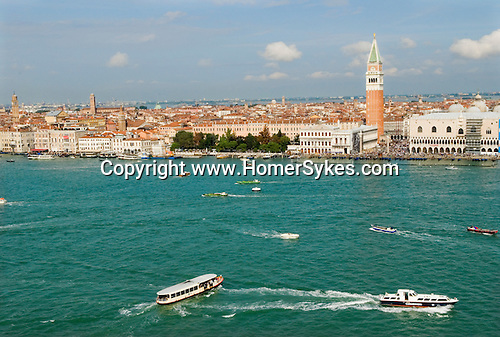 Venice Italy 2009. Taken from San Giorgio Maggiore looking across to St Marks Square / Piazza San Marco.