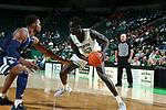 DENTON, TX - JANUARY 20: North Texas Mean Green Men's Basketball team Rice Owls at Super Pit - North Texas Coliseum on January 20, 2020 in Denton, Texas.