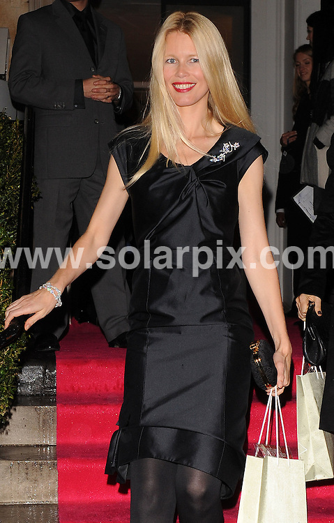 **ALL ROUND PICTURES FROM SOLARPIX.COM**.**WORLDWIDE SYNDICATION RIGHTS**.Outside arrivals at The VOGUE Fantastic Fashion Fantasy Party on November 3, 2008 at One Marylebone Road in London, UK. ..This pic: Claudia Schiffer..JOB REF: 7792 SSD     DATE: 03_11_2008.**MUST CREDIT SOLARPIX.COM OR DOUBLE FEE WILL BE CHARGED* *UNDER NO CIRCUMSTANCES IS THIS IMAGE TO BE REPRODUCED FOR ANY ONLINE EDITION WITHOUT PRIOR PERMISSION*