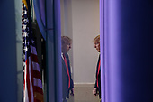 United States President Donald J. Trump arrives to a news conference in the Brady Press Briefing Room of the White House in Washington, D.C., U.S., on Friday, May 22, 2020. Trump didn't wear a face mask during most of his tour of Ford Motor Co.'s ventilator facility Thursday, defying the automaker's policies and seeking to portray an image of normalcy even as American coronavirus deaths approach 100,000. <br /> Credit: Andrew Harrer / Pool via CNP