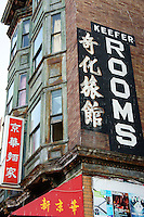 Keefer Rooms rooming house in  Chinatown, Vancouver, British Columbia, Canada.