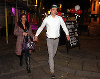 Cage fighter Tom Richards, former fiance of Danniella Westbrook, with Renata Moran in Wind Street, Swansea, south Wales, UK. Friday 04 March 2016