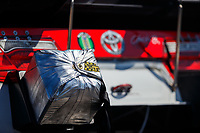 Mar 19, 2017; Gainesville , FL, USA; Detailed view of the parachute pack on the car of NHRA funny car driver Jonnie Lindberg during the Gatornationals at Gainesville Raceway. Mandatory Credit: Mark J. Rebilas-USA TODAY Sports