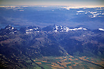 Aerial over The Grand Tetons and Driggs Valley, (Idaho) WYOMING