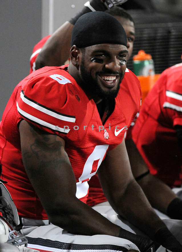AARON GANT, of  the Ohio State Buckeyes in action during the Buckeyes game against the Marshall Thundering Herd at Ohio Stadium in Columbus, Ohio  on September 2 , 2010.   Ohio State won the game 45-7...