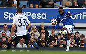9th September 2017, Goodison Park, Liverpool, England; EPL Premier League Football, Everton versus Tottenham; Cuco Martina of Everton crosses the ball from the right touchline as Ben Davies of Tottenham covers