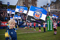 A general view of the pre-match guard of honour. European Rugby Champions Cup match, between Bath Rugby and Wasps on December 19, 2015 at the Recreation Ground in Bath, England. Photo by: Patrick Khachfe / Onside Images