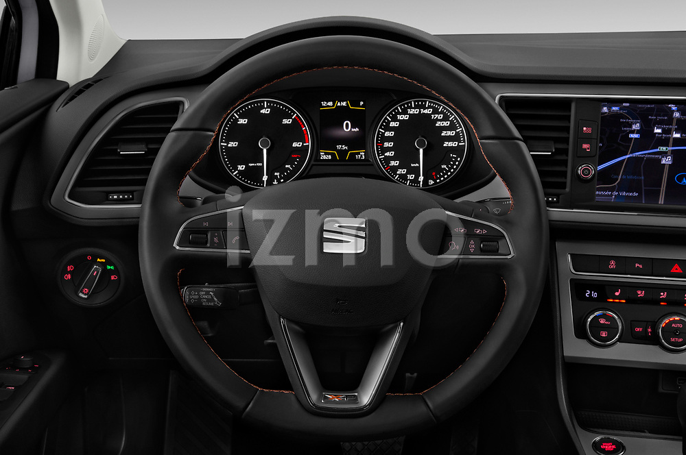 Car pictures of steering wheel view of a 2017 Seat Leon ST Xperience Base 5 Door Wagon