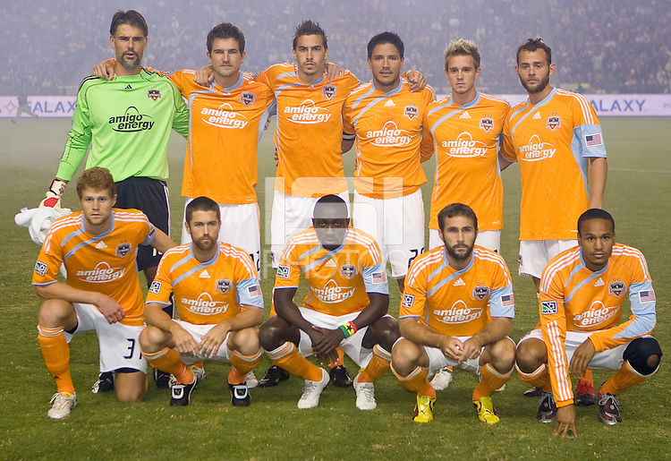Western Conference Final Houston Dynamo starting eleven. The LA Galaxy defeated the Houston Dynamo 2-1 to win the MLS Western Conference Final at Home Depot Center stadium in Carson, California on Friday November 13, 2009.....